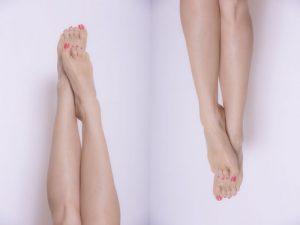 女性の下腿の画像です。ふくらはぎボトックスにより細くなったイメージの画像です。