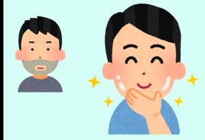 ひげが濃い男性とひげを脱毛してツルスベになった男性の比較画像です。