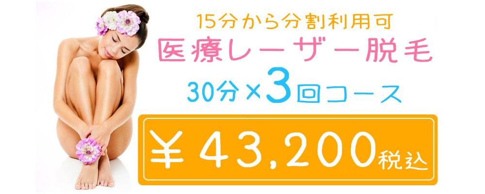 新脱毛コース 3回¥42,000