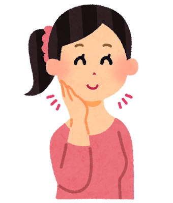 脂肪溶解注射5本とボトックス注射による即効小顔を注射をして小顔になった女性のイラストです。